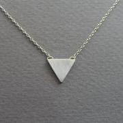 Triangle Necklace Pendant - Geometric Jewelry - Sterling Silver - Small Triangle